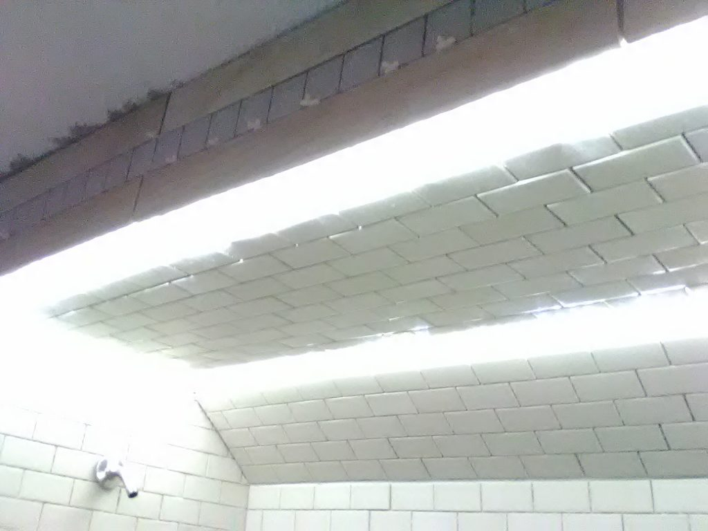 How to install led lights into tile subway lights design integrates led lights into the tile led shower light dailygadgetfo Image collections