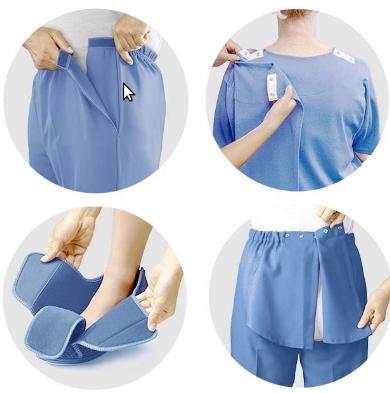 Adaptive clothing garments