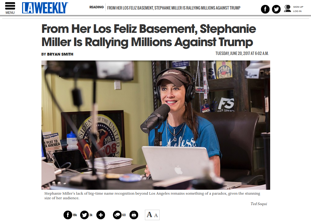 Stephanie Miller Show LA Weekly reproduced article