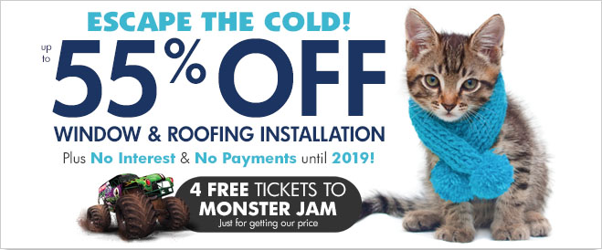 Half off windows and siding from Hansons renovation experts