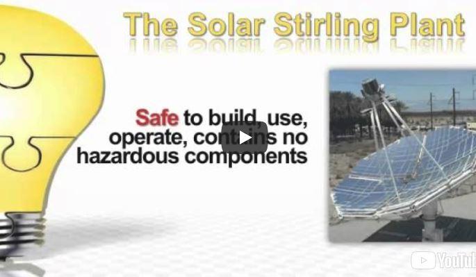 solar sterling engine runs on heat