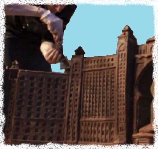 chocolate castle sculpture low fat sugar free chocolates