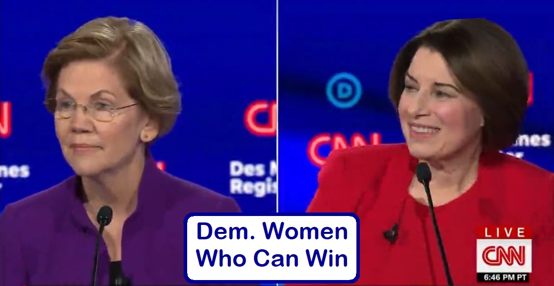 women can win -democratic debate Iowa on CNN