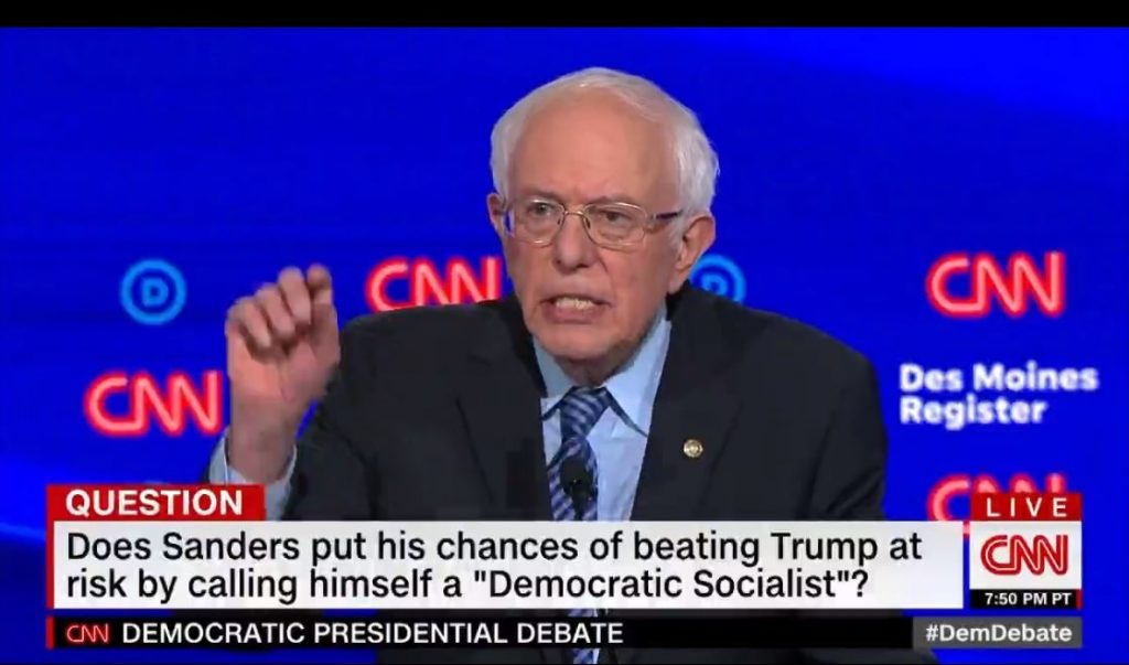 Bernie can win against social democrat tag