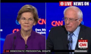 Bernie and Elizabeth share base support in democratic debate ONN Iowa 2020