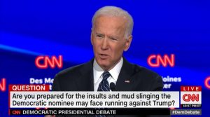 Biden so-so performance at CNN's Democratic debate in Iowa. Jan 2020