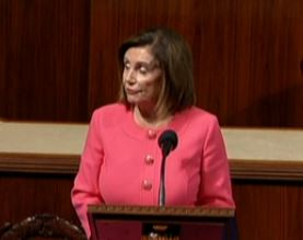 Nancy Pelosi is pleased as Impeachment process goes to the US Senate